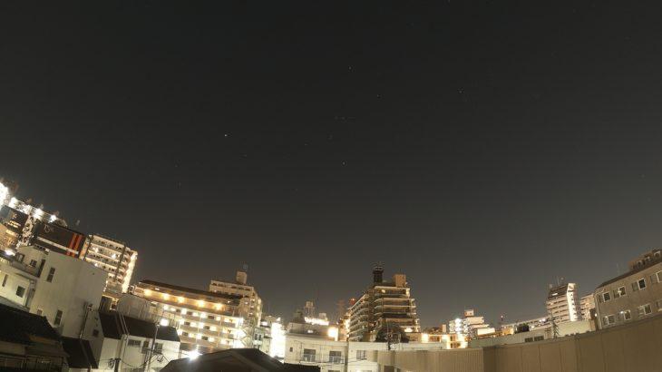 【Lightroom】Goproで撮影したナイトラプス写真をLightroomで現像します。